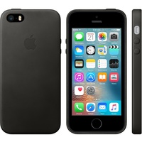 Чехол Apple Leather Case Black черный, для iPhone 5/5S/SE